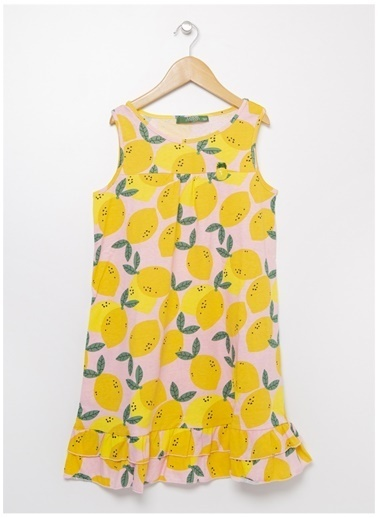 Limon Company Limon Kız Çocuk Açık Pembe Elbise Pembe